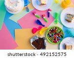 cake  candy  chocolate ...   Shutterstock . vector #492152575