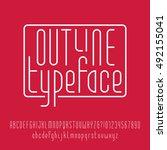 outline typeface. modern line... | Shutterstock .eps vector #492155041