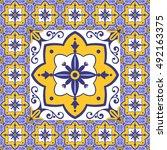Flowers Pattern Tiles Floor...