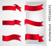 vector ribbons set | Shutterstock .eps vector #492166141