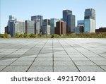 empty marble floor with... | Shutterstock . vector #492170014