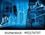 stock market or forex trading... | Shutterstock . vector #492176737