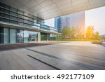 office building entrance with... | Shutterstock . vector #492177109