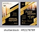 gold brochure layout design...