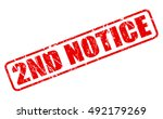 2nd notice red stamp text on...   Shutterstock .eps vector #492179269