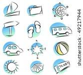 travel icons | Shutterstock .eps vector #49217944