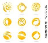 sun symbols   Shutterstock .eps vector #49217956