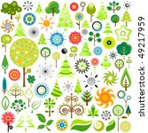 nature icons | Shutterstock .eps vector #49217959