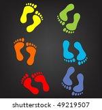 vector version footprint...   Shutterstock .eps vector #49219507