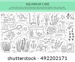 aquarium care. vector... | Shutterstock .eps vector #492202171