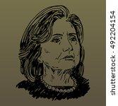 hillary clinton  democratic... | Shutterstock .eps vector #492204154