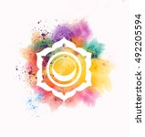 swadhisthana chakra | Shutterstock . vector #492205594