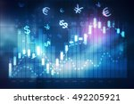 forex trading chart | Shutterstock . vector #492205921