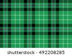 hibernian fc tartan fabric...   Shutterstock . vector #492208285