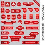 sale label collection. sale... | Shutterstock .eps vector #492209329