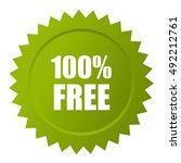 100 free icon isolated on white ...