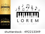 piano key logo   Shutterstock .eps vector #492213349
