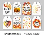 price sale tag templates set... | Shutterstock .eps vector #492214339