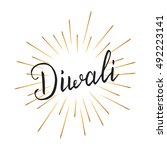 diwali. holiday diwali... | Shutterstock .eps vector #492223141