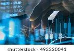 double exposure stock market... | Shutterstock . vector #492230041