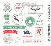 Christmas Stamps Set. Vector...