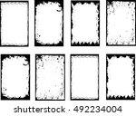 grunge frame set. vector... | Shutterstock .eps vector #492234004