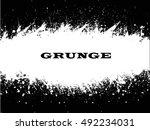 ink splash background.cracked... | Shutterstock .eps vector #492234031