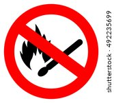 no match fire sign vector... | Shutterstock .eps vector #492235699