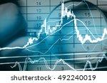 double exposure of business... | Shutterstock . vector #492240019