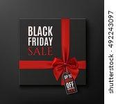 black friday sale conceptual... | Shutterstock . vector #492243097