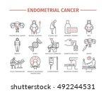 endometrial cancer. symptoms ...   Shutterstock .eps vector #492244531
