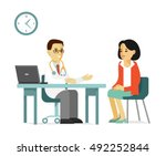 medicine concept with... | Shutterstock .eps vector #492252844