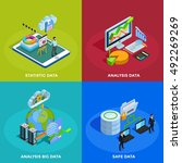 big data collecting safe... | Shutterstock .eps vector #492269269