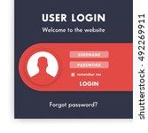 user login window  page...