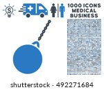 destruction hammer icon with... | Shutterstock .eps vector #492271684