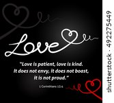 christian love background with... | Shutterstock .eps vector #492275449