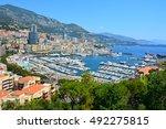 view over port hercule in... | Shutterstock . vector #492275815
