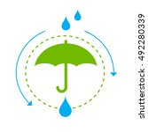 waterproof icon for products ... | Shutterstock .eps vector #492280339