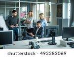 african american businessman... | Shutterstock . vector #492283069
