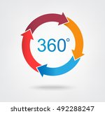 4 part arrow wheel chart icon... | Shutterstock .eps vector #492288247