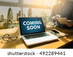 coming soon thoughtful male... | Shutterstock . vector #492289441