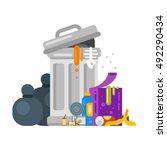 vector flat style illustration... | Shutterstock .eps vector #492290434