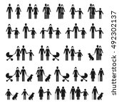 people and family icons. man... | Shutterstock .eps vector #492302137