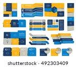 mega set of  infographics... | Shutterstock .eps vector #492303409