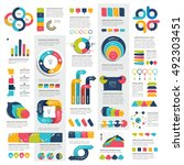 mega set of infographics... | Shutterstock .eps vector #492303451