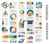 mega set of infographics... | Shutterstock .eps vector #492303451