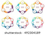 circular arrows for... | Shutterstock .eps vector #492304189