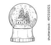 hand drawn vector illustration  ... | Shutterstock .eps vector #492310321