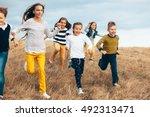 Group Of Fashion Children...