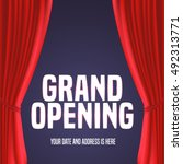 grand opening vector banner ... | Shutterstock .eps vector #492313771